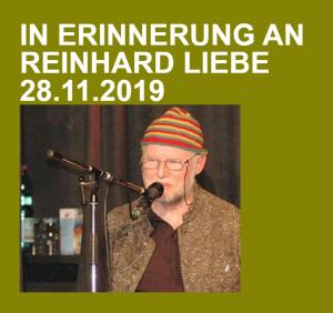 In Erinnerung an Reinhard Liebe